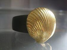 edler Knopfaufsatz - Muschel gold 21mm - kompatibel m. Charlotte 21 Ring