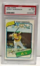 Rickey Henderson 1980 Topps RC Rookie Card #482 - PSA 6 EX-MT - OAKLAND A's