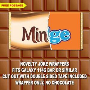 Rude Chocolate Bar Wrapper Novelty Joke Funny Gift Birthday Christmas Present