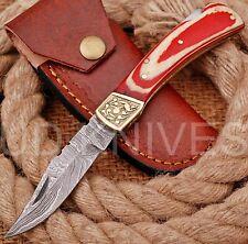UD KNIVES CUSTOM HAND FORGED DAMASCUS STEEL POCKET FOLDING HUNTING KNIFE O-7719