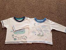 TU Baby Boys T-Shirts X2, BNWOT, 0-3 Months
