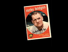 1959 Topps 318 Rocky Bridges EX #D681223