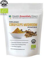 Certified Organic Wild Cordyceps Mushroom Powder (Immunity, Energy) Choose Size: