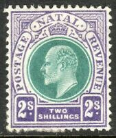 South Africa Natal 1904 green/violet 2/- multi-crown CA mint SG156