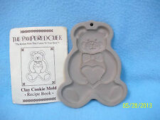 Pampered Chef TEDDY BEAR Clay Cookie Mold w Tag! ~ Very Nice! LQQK >>