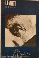 LE ARTI Anno XXIII Aprile 1973 Speciale Picasso Antologia Pablo Luciano Minguzzi
