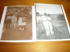 2 old Photos tennis players c1930s