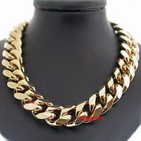 "11mm ROUNDED CURB THICK Link 14k GOLD GL 18"" MENS Necklace + LIFETIME GUARANTEE"