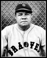 Babe Ruth #19 Photo 8x10 - Boston Braves 1935