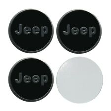 4 X 55 MM JEEP REPLICA BADGE STICKER IDEAL FOR WHEEL TRIMS HUB CAPS CENTRES