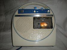 VINTAGE RARE SPACE AGE MOD 1970's Hitachi TRQ-225 CASSETTE PLAYER RECORDER ASIS
