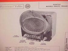 1951 PONTIAC STREAMLINER CHIEFTAIN CONVERTIBLE COUPE AM RADIO SERVICE MANUAL 51