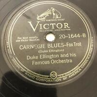 Duke Ellington Orchestra Carnegie Blues My Heart Sings 78 RPM RCA Victor Record