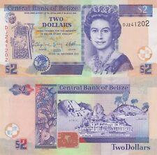 Belize 2 Dollars (01.11.2011) - QEII/Animals/Ruins/66d UNC