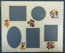 Disney Mickey & Minnie Love Hearts Paper Multiple Photo Mount for 12x10 Frame