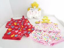 Build A Bear Set of 2 Satin Pajamas With Bunnie Slippers