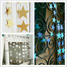 4M Bunting Garland Hanging Paper Star Garlands For Christmas Party Z5E3 Wed S4Y0