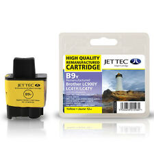 JET TEC B9Y HIGH QUALITY REMANUFACTURED BROTHER LC900 YELLOW INK CARTRIDGE