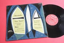 A 00312 L Stravinsky Les Noces Mass Netherlands Nobel Holland Festival 1954 LP