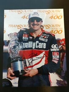 Autographed Signed Dale Jarrett Trophy Quality Care 8x10 Glossy Photograph Photo