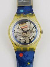 Swatch Skeleton Quartz Watch AG1994 Zurich Financial Services 0192 Vintage Blue
