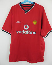 "2000-02 Manchester United Football Shirt Home Youth Kids 30"" MB Boys Medium M"