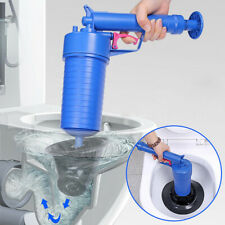 NEW Pressure Pump Cleaner Unclogs Toilet Hand Powered Plunger Set Elbow Type