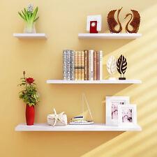 Wall Shelves 4pcs Set Shelf Floating Display Decor Home Wood Wall Mount HDRA293