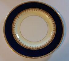 ROYAL WORCESTER DINNER PLATE  COBALT RIM WITH ENAMEL RAISED GOLD