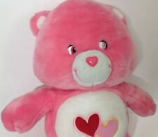 Care Bear Love-a-Lot Plush Stuffed Animal Toy Pink 21""