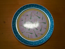 """Essex Bois D'Arc TUTTI FRUITTI Dinner Plate 10 1/8"""" Scallions 1 ea"""
