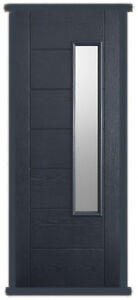 Pre-hung Newbury Anthracite Grey External Composite Door with Frosted Glass