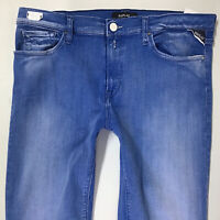 BNWT Ladies Replay JOI Blue SKINNY Jeans JEGGINGS W32 L30 (713d)