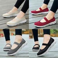 Women Slip On Casual Shoes Mesh-Breathable Walking Work Outdoor Tennis Sneaker