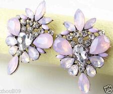 Ear Stud silver dangle Earrings 456 New Fashion Women Elegant Crystal Rhinestone