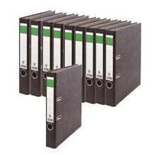10 x Ordner 50mm grüner Balken neutral A4 schmal mit Griffloch und Kantenschutz