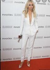 Zara White Tuxedo Style Contrast Shawl Collar Blazer Jacket Size L Uk12 Bnwt
