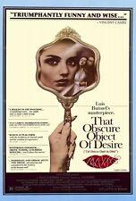 THAT OBSCURE OBJECT OF DESIRE Movie POSTER 27x40 Fernando Rey Carole Bouquet