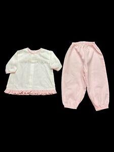 Auraluz 2 Pc Infant girls-3 Mos-Pink-Birds/Flowers
