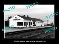 OLD LARGE HISTORIC PHOTO OF KERKHOVEN MINNESOTA THE RAILROAD DEPOT STATION c1960