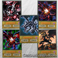 Yu-Gi-Oh! Custom Anime Orica - RED EYES BLACK DRAGON - 5 Card Set