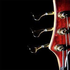 QUADRO SU VETRO TEMPERATO 50x50CM CHITARRA MUSICA PASSIONE ACCORDI