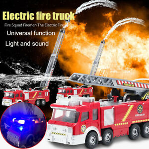 Electric Fire Truck Water Spray Fire Engine Car Toy Kids Educational Gift