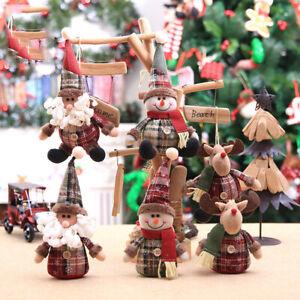 Christmas Ornaments Toy Christmas Tree Hanging-Decor Santa Snowman Reindeer Doll