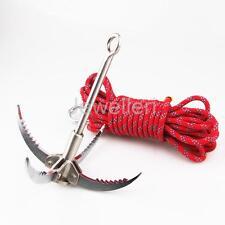 Folding Steel Carabiner Grappling Hook Climbing 400kg Military Survival kit