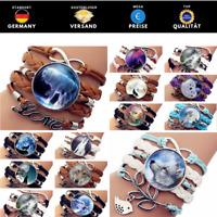 ★ Armband Wolf   Geschenk   Bracelet   Indianer   Lederarmband   Freundschaft