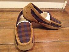 NEW Ugg BOYS Chesnutt Plaid Lasso Slip on Shoes Kids US Sz 6/ Euro 36? So Comfy