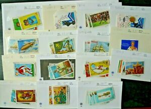BELIZE ADVANCED COLLECTION OF 100 USED DIFFERENT STAMPS COMPLETE SETS CAT $380+