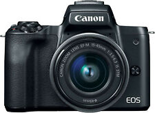 Canon EOS M50 15-45mm f/3.5-6.3 IS STM Mirrorless Digital Camera (Black)