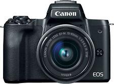 Canon EOS M50 15-45mm f/3.5-6.3 IS STM Mirrorless Digital Camera (Black)